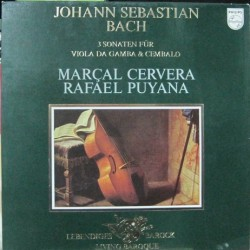 Rafael Puyana, Marcal Cervera - 3 Sonatas For Viola De Gamba.